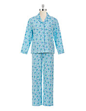 Striped Floral Cotton Pyjama Set