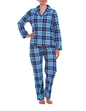 Two-Piece Plaid Pajama Set
