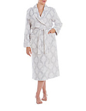 Wallpaper Shawl-Collar Robe