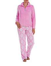 Two-Piece Wallpaper Zip Pajama Set