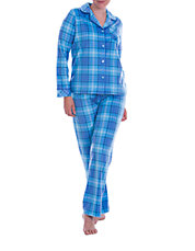 Two Piece Plaid Pajamas