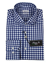Gingham Fitted Dress Shirt