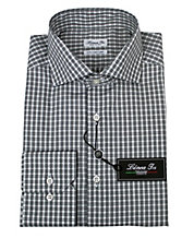 Checked Fitted Dress Shirt