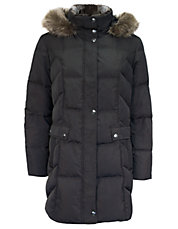 Provence Faux Fur-Trimmed Down Puffer Coat