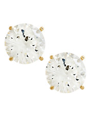 14K Yellow Gold Cubic Zirconia Earrings