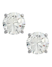 14K White Gold Cubic Zirconia Earrings