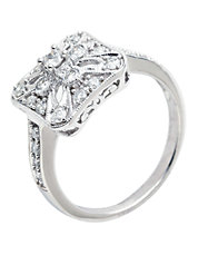 14K White Gold 0.50ct Diamond Ring
