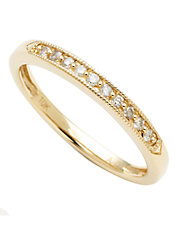 10K Yellow Gold 0.10ct Diamond Ring