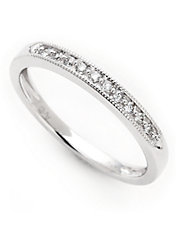 10K White Gold 0.10ct Diamond Ring