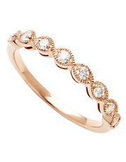 14K Pink Gold 0.25ct Diamond Ring
