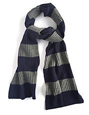 Ribbed Rugby Stripe Scarf