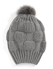 Angora Knit Fox Fur Beanie