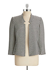 Honeycomb Zip Pocket Blazer