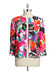 Tropical Floral Printed Jacket