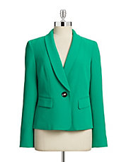 Crepe Single-Button Jacket