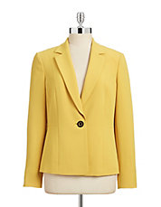 Vented-Sleeve Single-Button Blazer