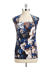 Printed Square Neck Top