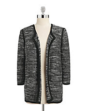 Sequined Open Cardigan