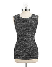 Sequined Marl Knit Tank