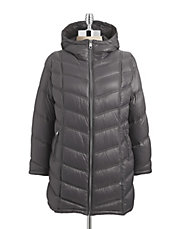 Plus Essential Packable Long Down Coat