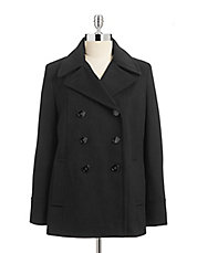 Essential Wool Peacoat with Scarf