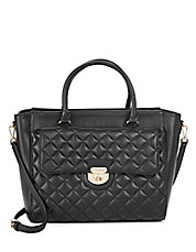Quilted Lamb Leather Satchel