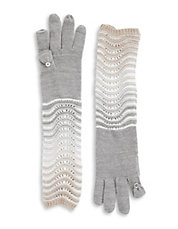 Ombre Elbow Length Gloves