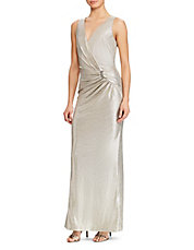 Sleeveless Metallic Gown · Quick View · LAUREN RALPH LAUREN · Sleeveless  Metallic Gown. $250.00. Sleeveless ...