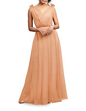 Emmy Tulle Surplice Gown