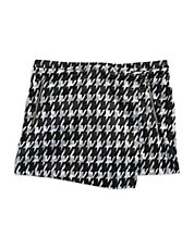 Shiney Houndstooth Skort