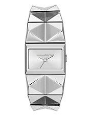 Karl Polished Stainless Steel Watch