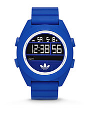 Calgary Blue Digital with Silicone Strap