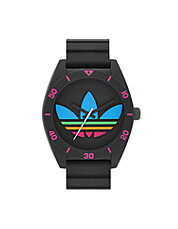Santiago Oversized Multi colour trefoil and Black Silicone Strap