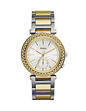 Womens Two-Tone Stainless Steel Analog Watch