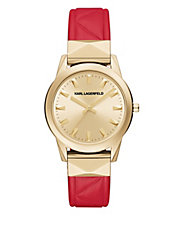 Labelle Studded Leather Watch