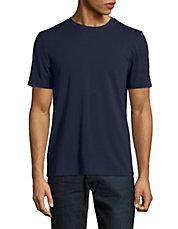 T-shirt ras du cou uni en coton pima
