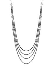 Silvertone Multi-Chain Necklace