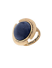 Goldtone Lapis Ring