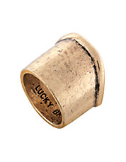 Goldtone Abstract Ring