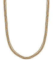 Multi Goldtone Bead Necklace