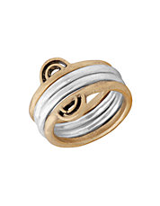 Two-Tone Stacked Ring