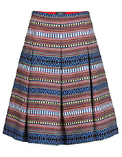 Patterned Basketweave Skirt