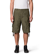 Drawstring Trim Cargo Shorts