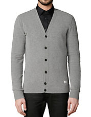 Buttoned Wool-Blend Cardigan