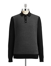 Micro Knit Long Sleeve Polo