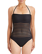 One-Piece Mesh Swimsuit