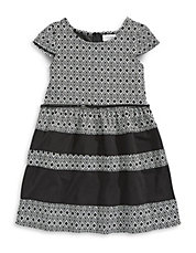 Aztec Double Knit Dress with Belt