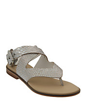 Snake Print Leather Sandals