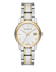 burberry watch outlet ixop  18K Goldplated City Analog Watch