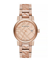 The City Rose Goldtone Check Watch